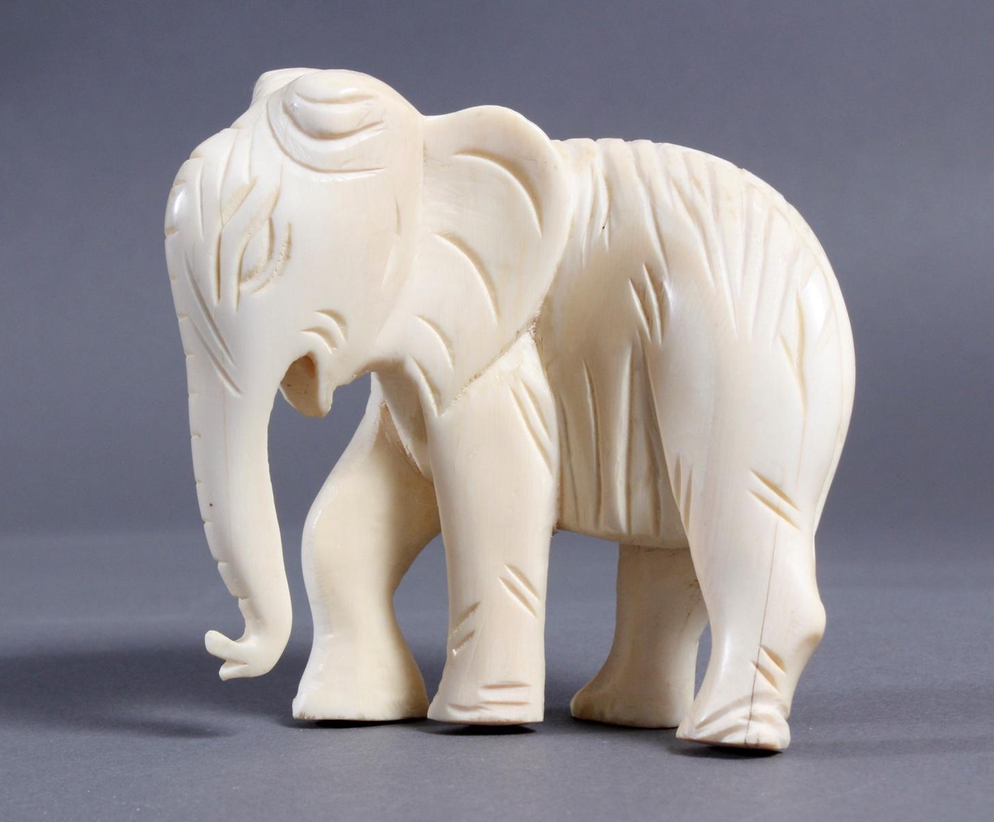 Elfenbein Elefant, Afrika um 1930