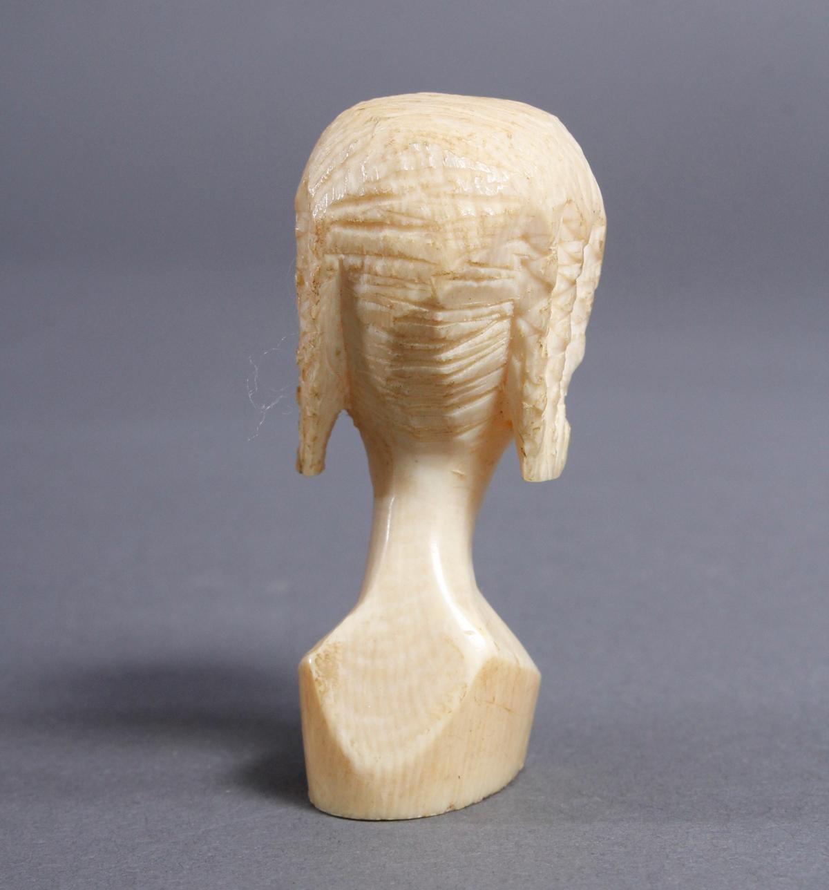 Elfenbein Kopf und Beinschnitzerei, Afrika / Asien um 1930-5