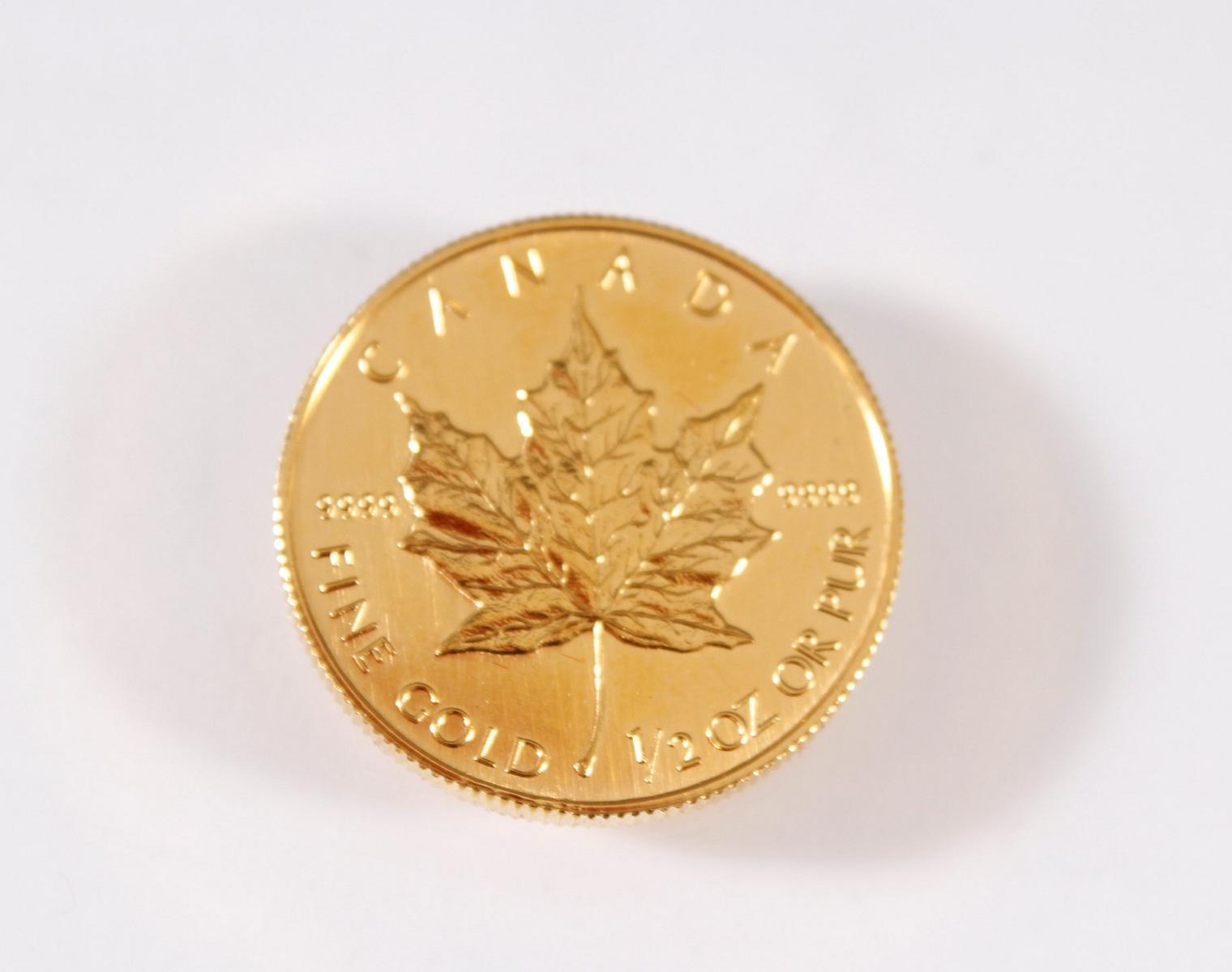 Canada 20 Dollar 1991 Elizabeth II, 1/2 OZ Feingold-2