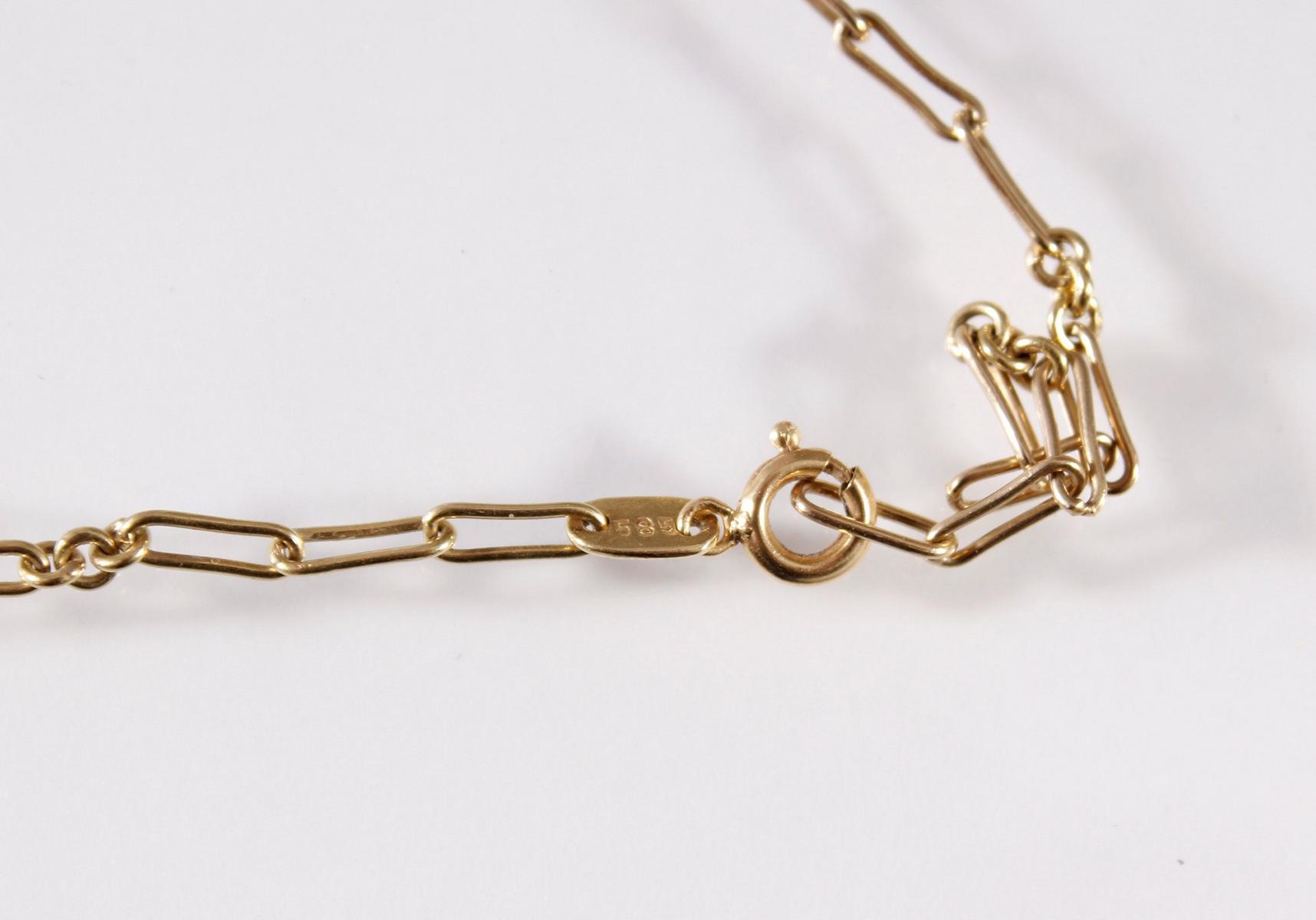 Halskette, 14 Karat Gelbgold-2