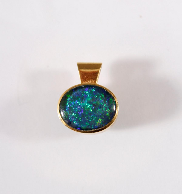 Anhänger mit Opal , 14 Karat Gelbgold