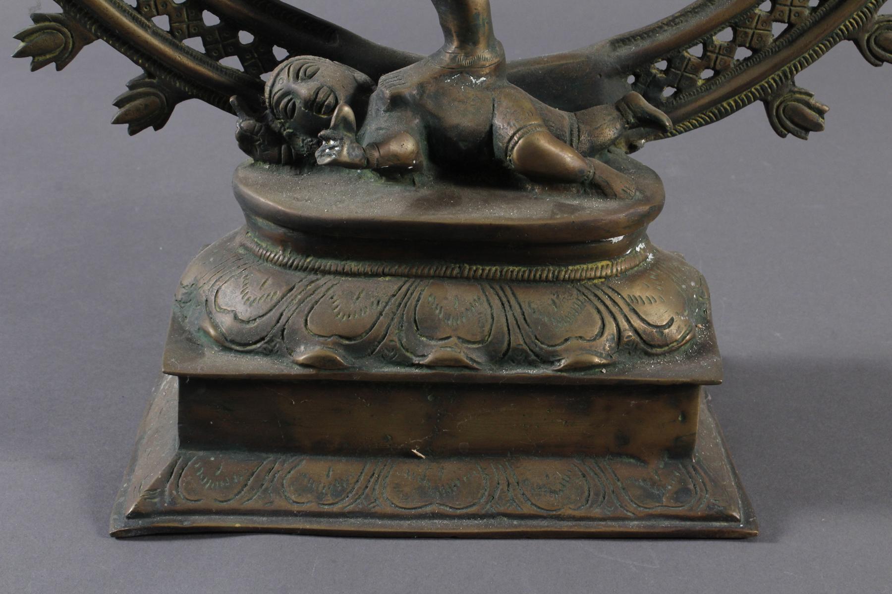 Nataraja Shiva im Flammenrad, Indien, 19. / 20. Jahrhundert-3