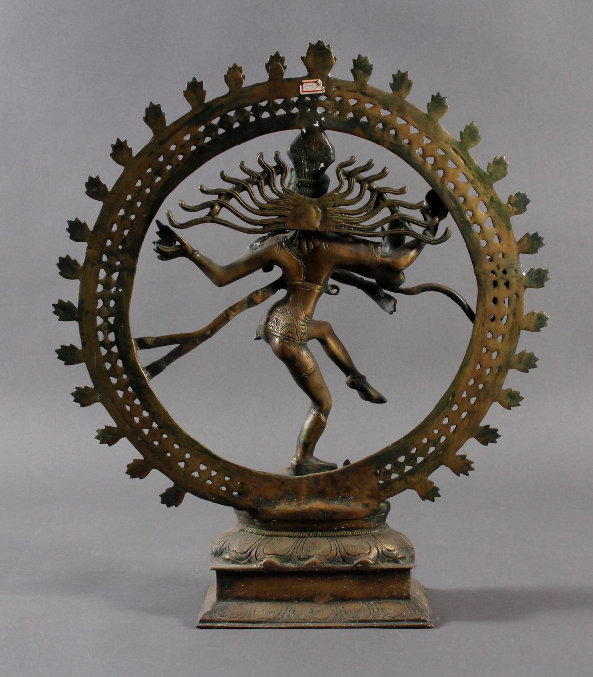 Nataraja Shiva im Flammenrad, Indien, 19. / 20. Jahrhundert-4
