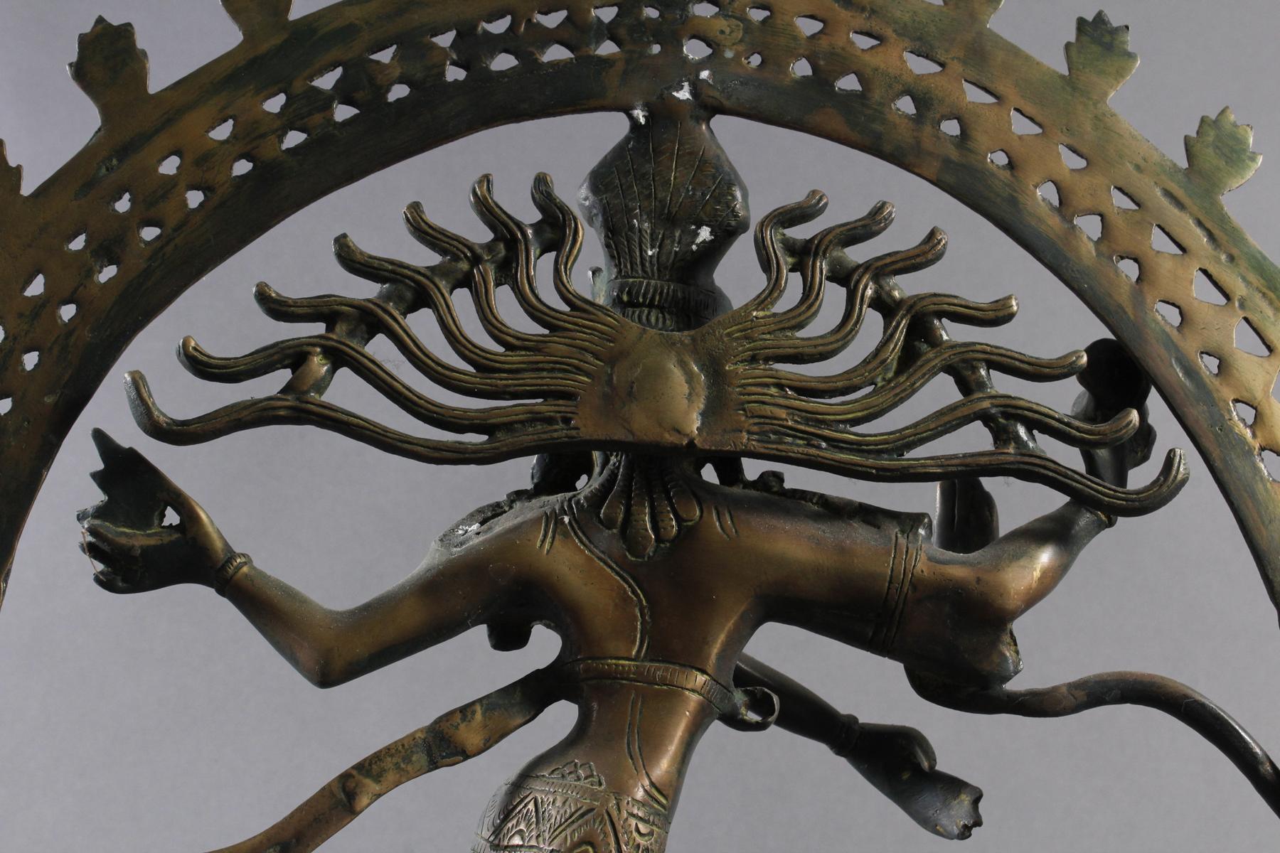 Nataraja Shiva im Flammenrad, Indien, 19. / 20. Jahrhundert-5
