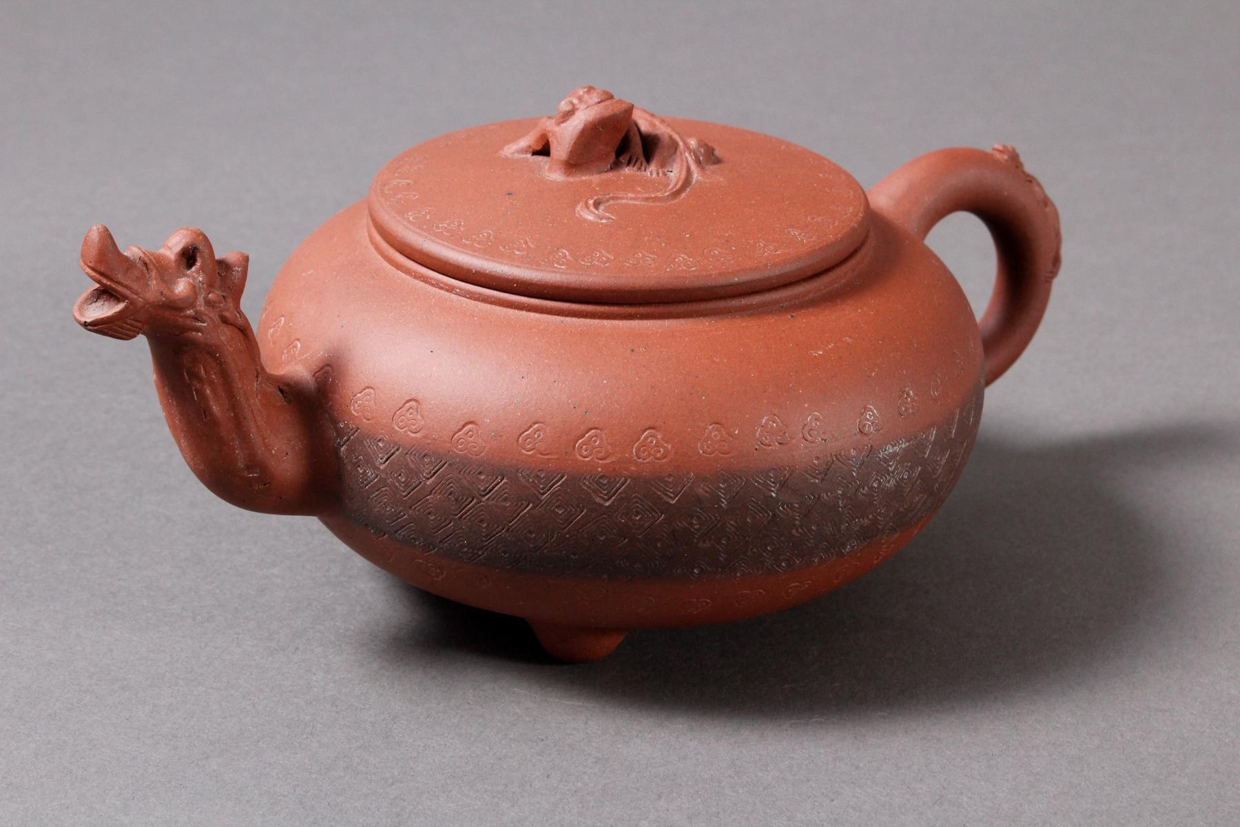 Terrakotta Teekanne, Mitte 20. Jahrhundert