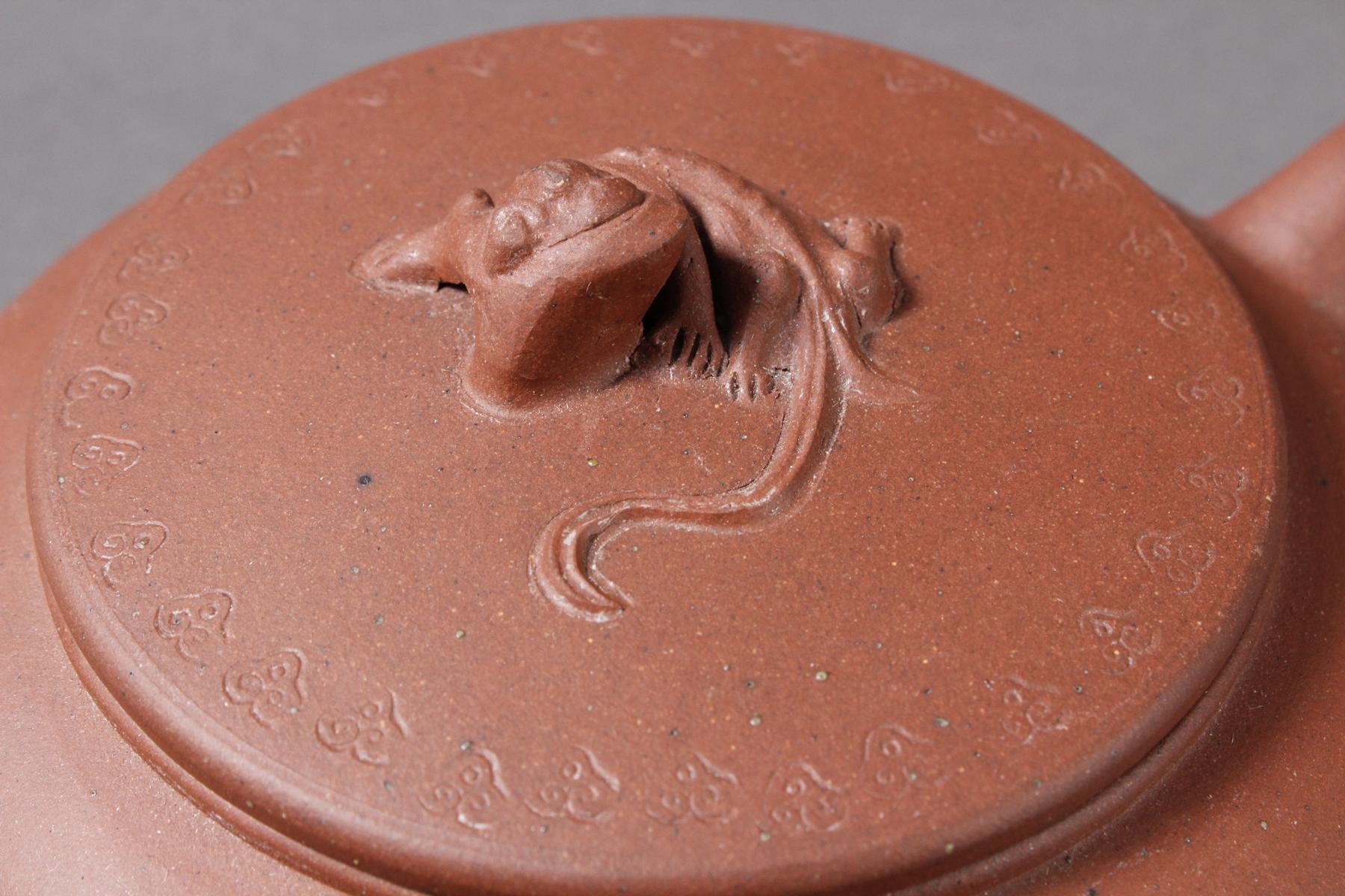 Terrakotta Teekanne, Mitte 20. Jahrhundert-2