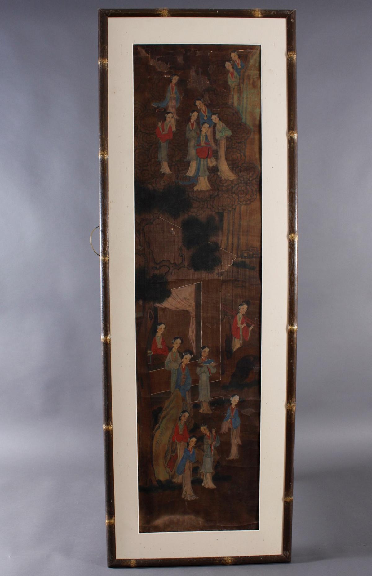 Stoffmalerei, China 18./19. Jahrhundert