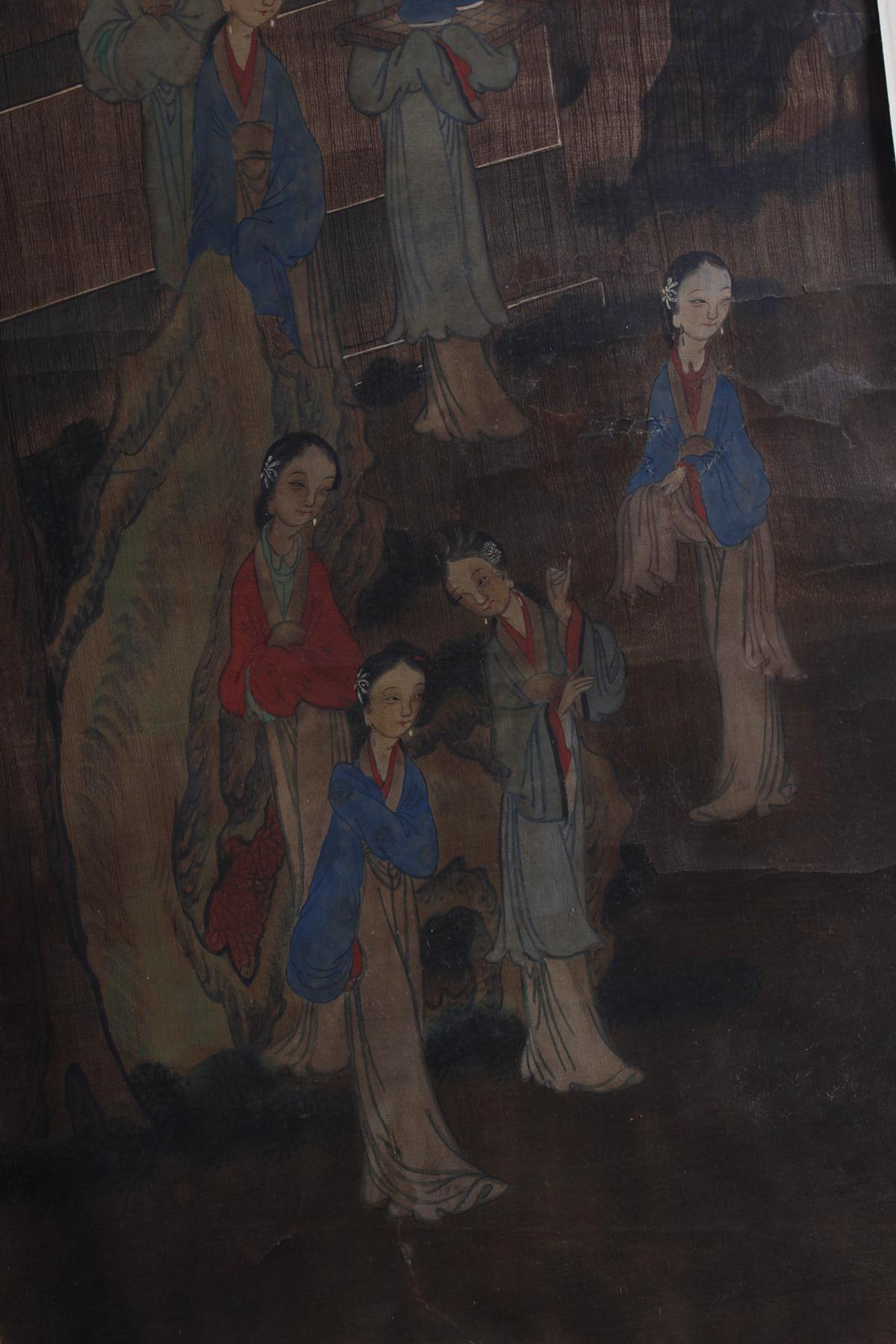 Stoffmalerei, China 18./19. Jahrhundert-3