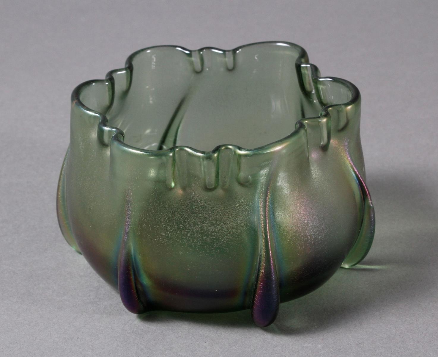 Glas Ziervase, Johann Lötz Witwe, Klostermühle um 1910-2