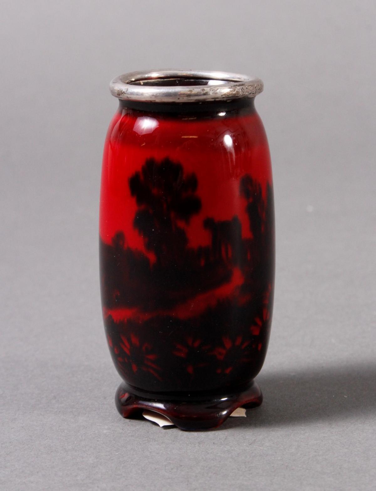 Keramik Ziervase, Flambe, Royal Doulton um 1910-2