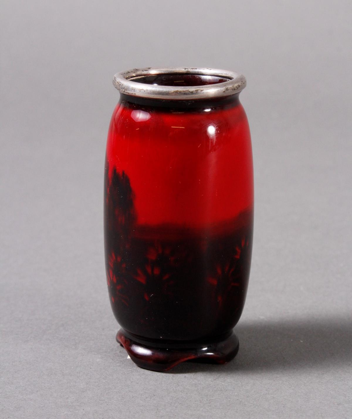 Keramik Ziervase, Flambe, Royal Doulton um 1910-3