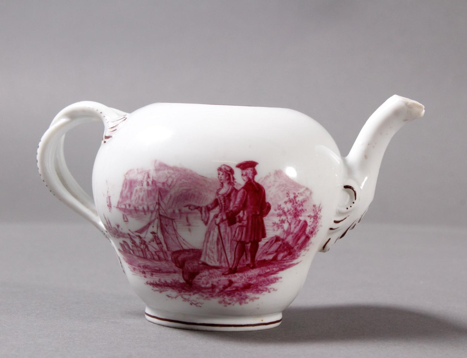 Kleines Meissen Porzellan Teekännchen um 1800