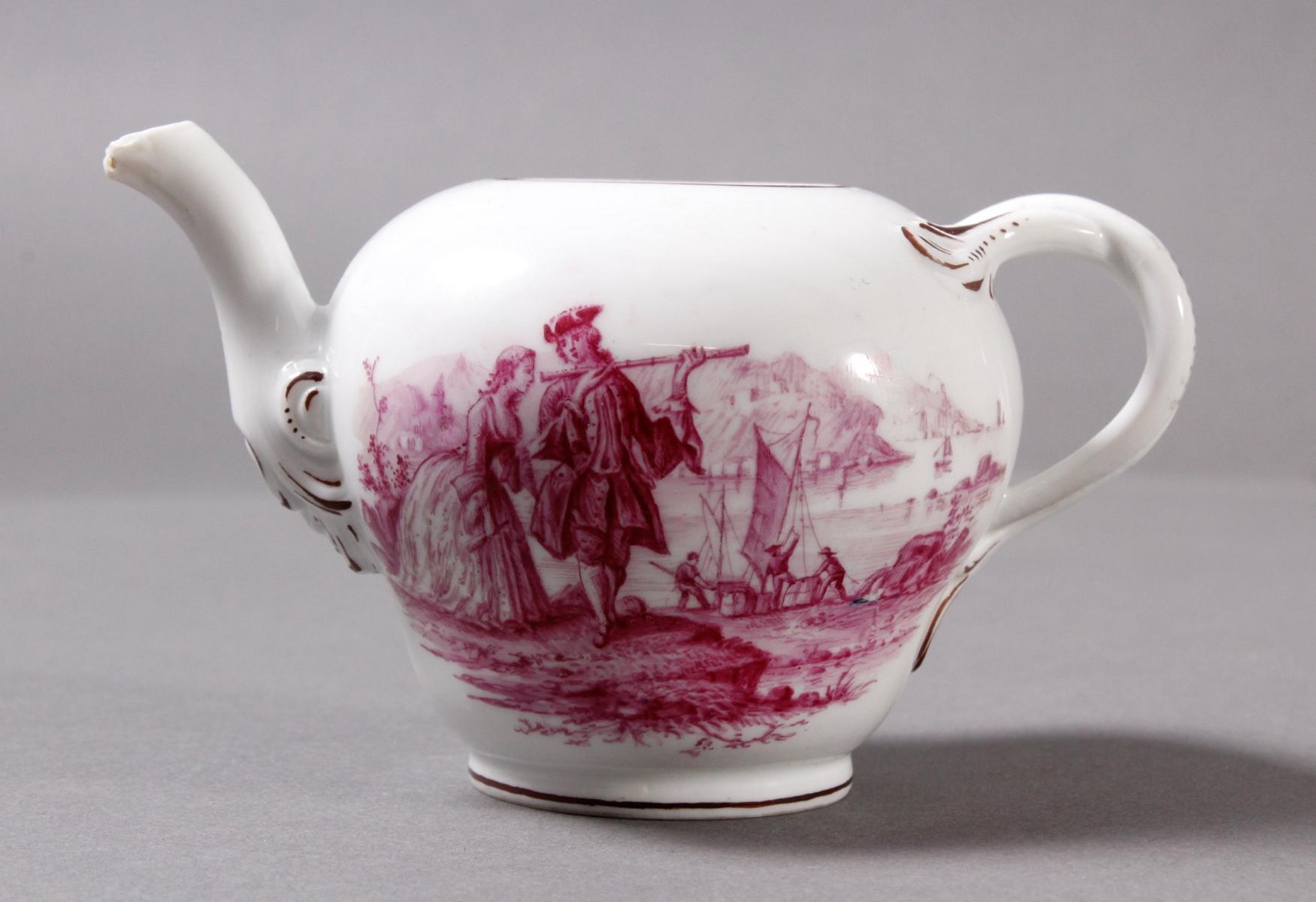 Kleines Meissen Porzellan Teekännchen um 1800-2