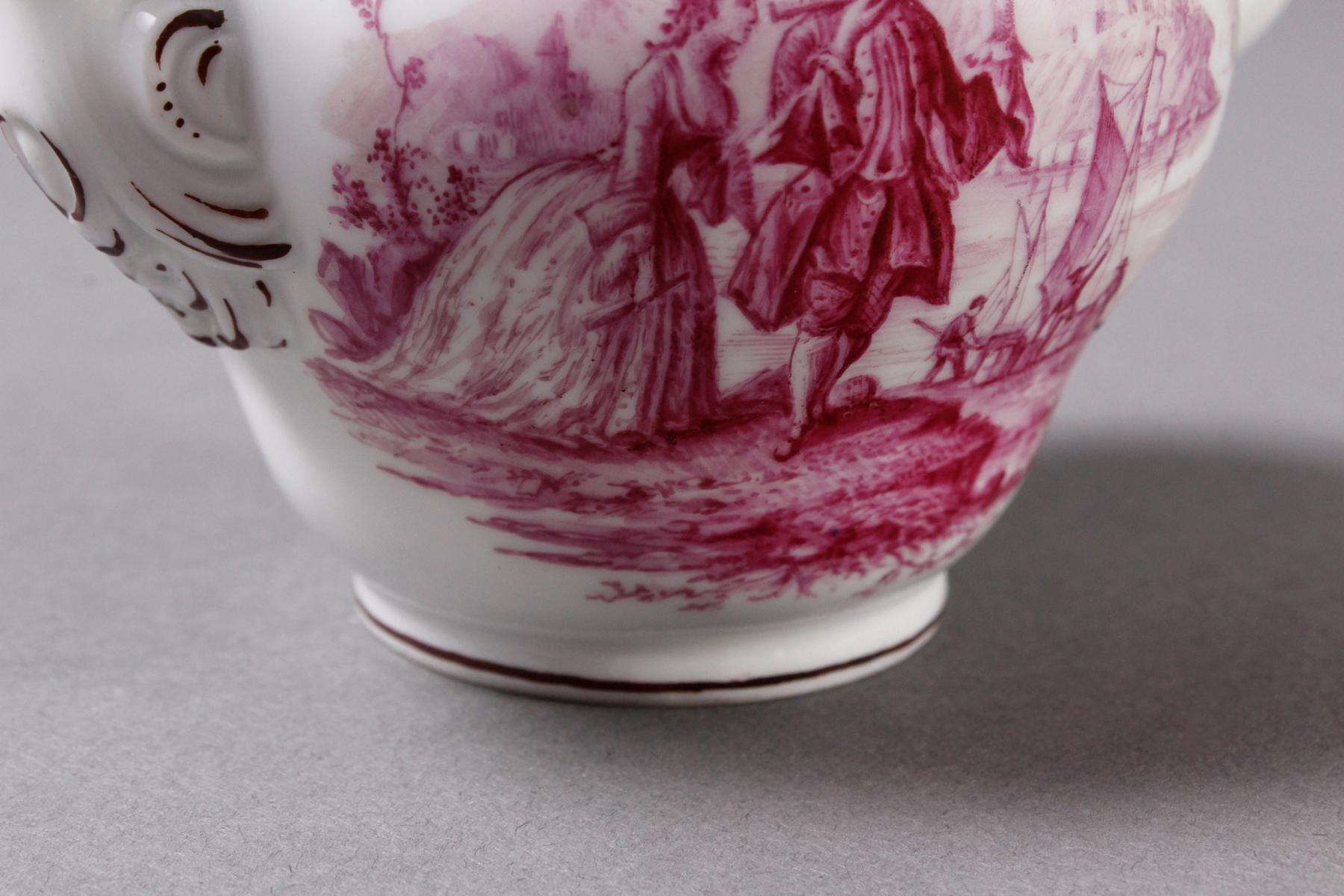 Kleines Meissen Porzellan Teekännchen um 1800-5