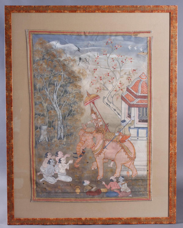 Buddhistische Stoffmalerei, 19. Jahrhundert. Vessantara Jataka