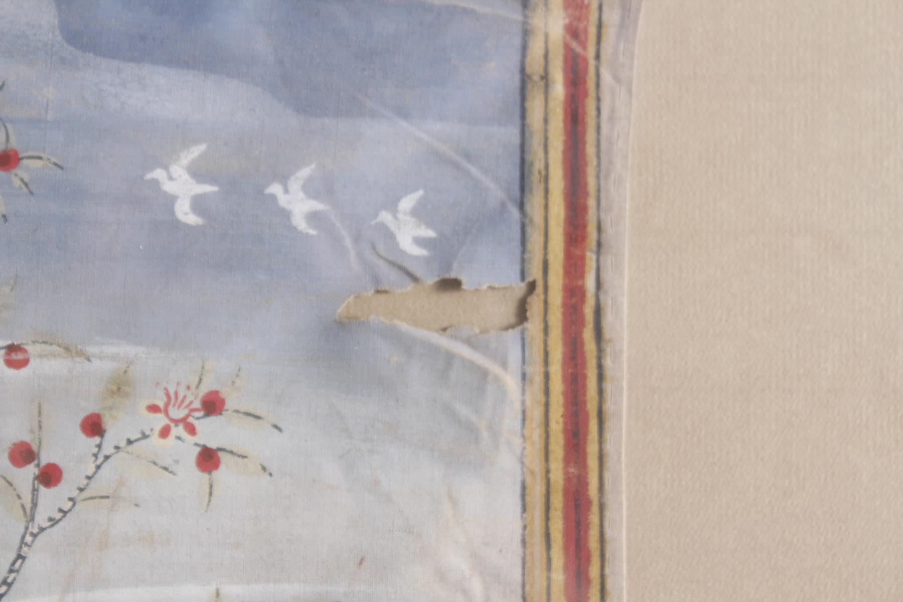 Buddhistische Stoffmalerei, 19. Jahrhundert. Vessantara Jataka-4