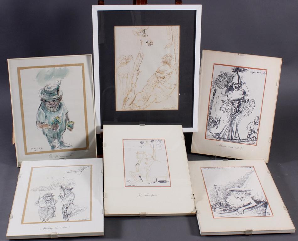 Carolus VOCKE (1899-1979), 6 Aquarelle, alle signiert und datiert