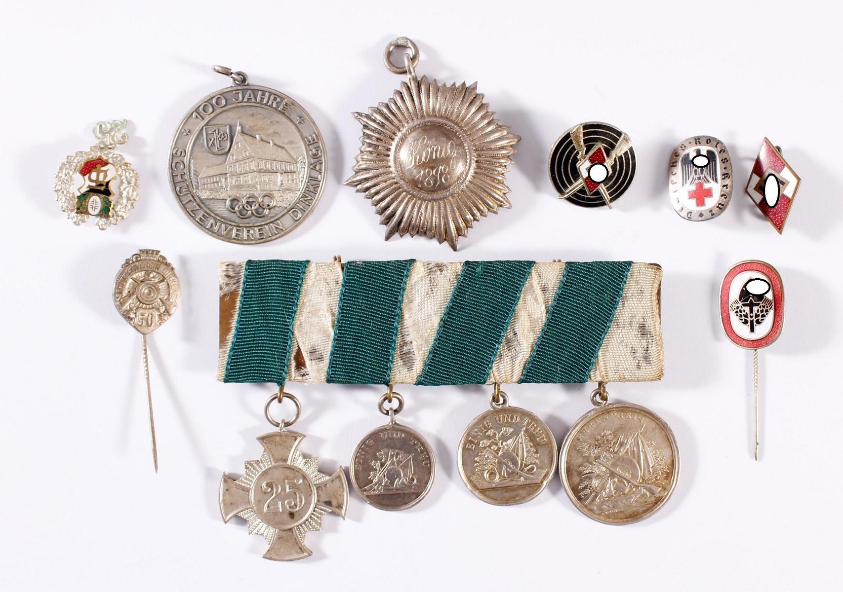 Sammlung Abzeichen und Preisverleihungen um 1900 und 2. WK