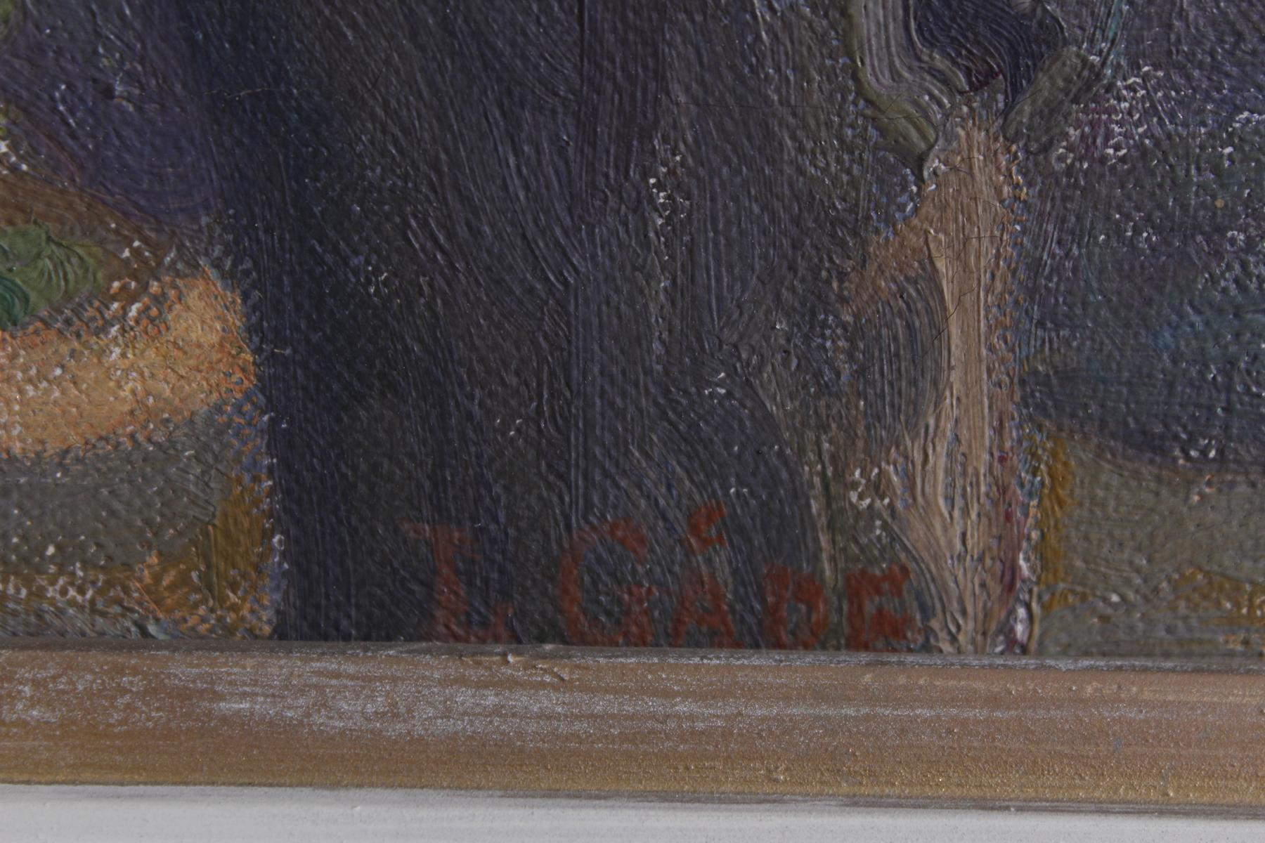 Lilla Pauline Emilie GÄDE (1852-1932), Blühende Bäume vor einem Gehöft-2