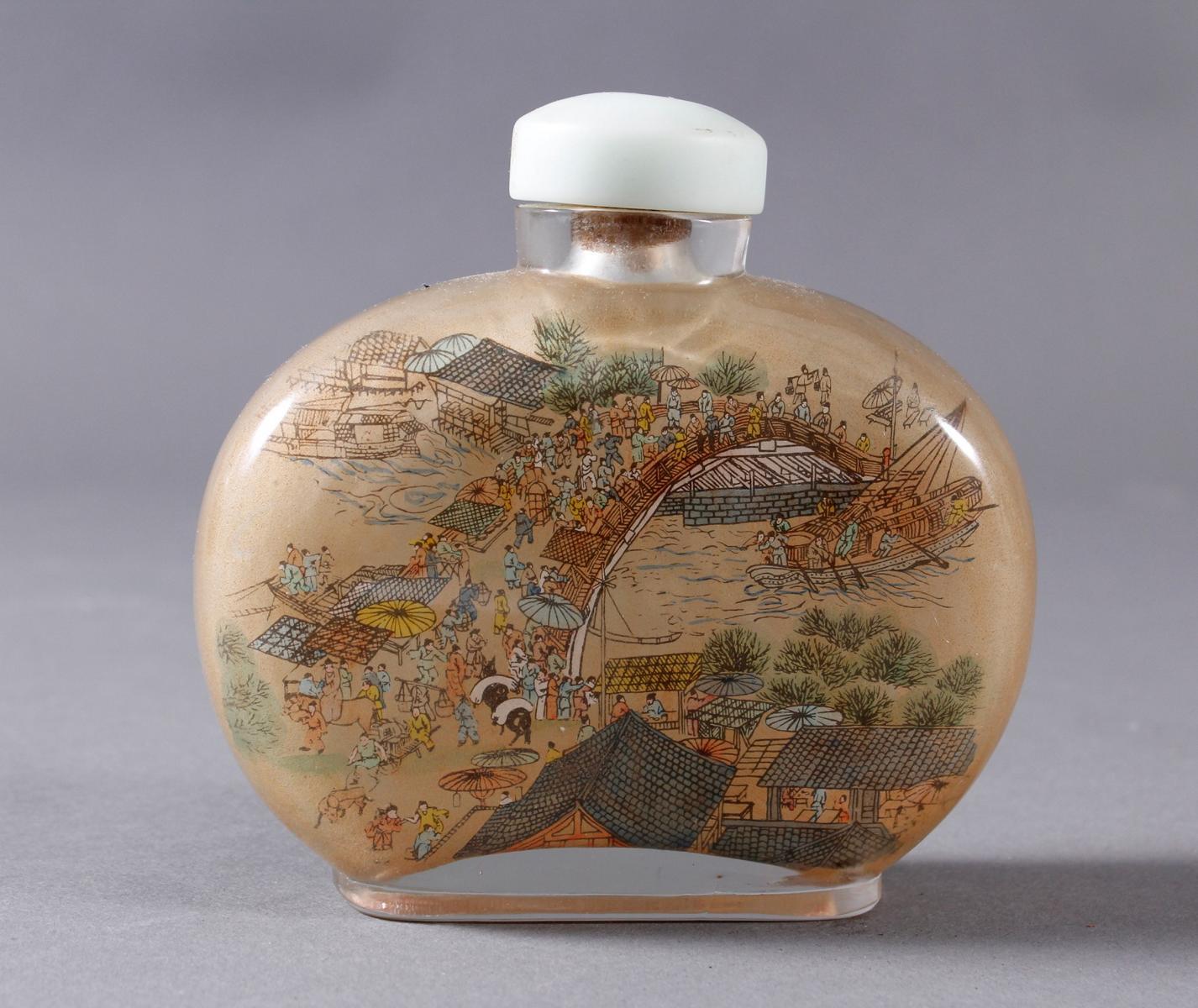 Große Glas Snuffbottle, 1. Hälfte 20. Jahrhundert-2