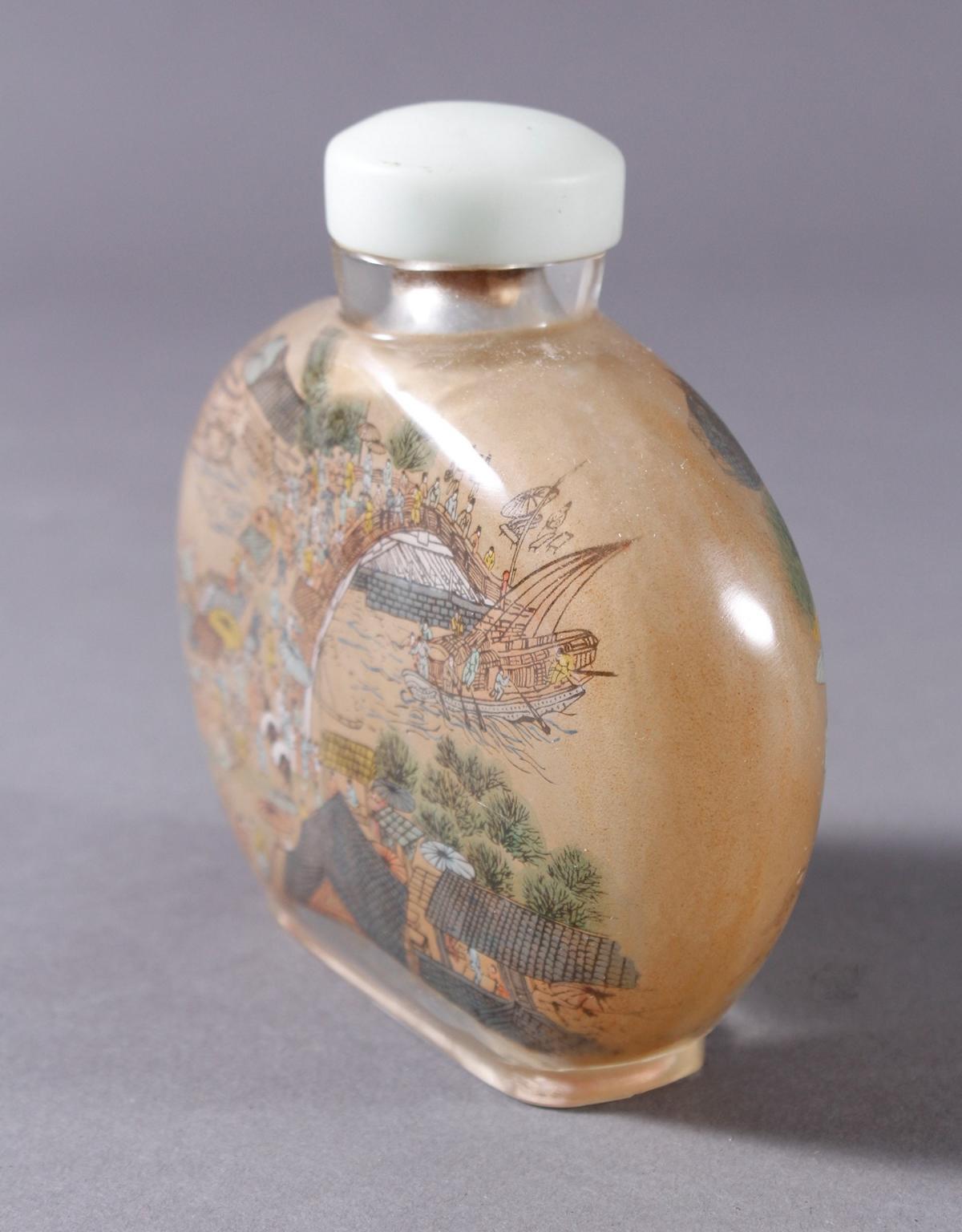 Große Glas Snuffbottle, 1. Hälfte 20. Jahrhundert-3