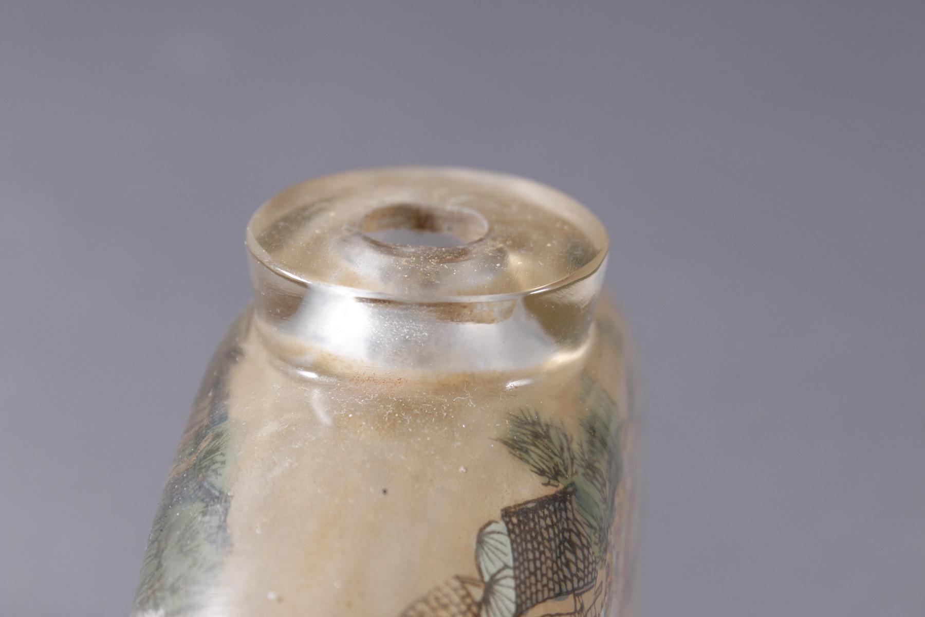 Große Glas Snuffbottle, 1. Hälfte 20. Jahrhundert-5