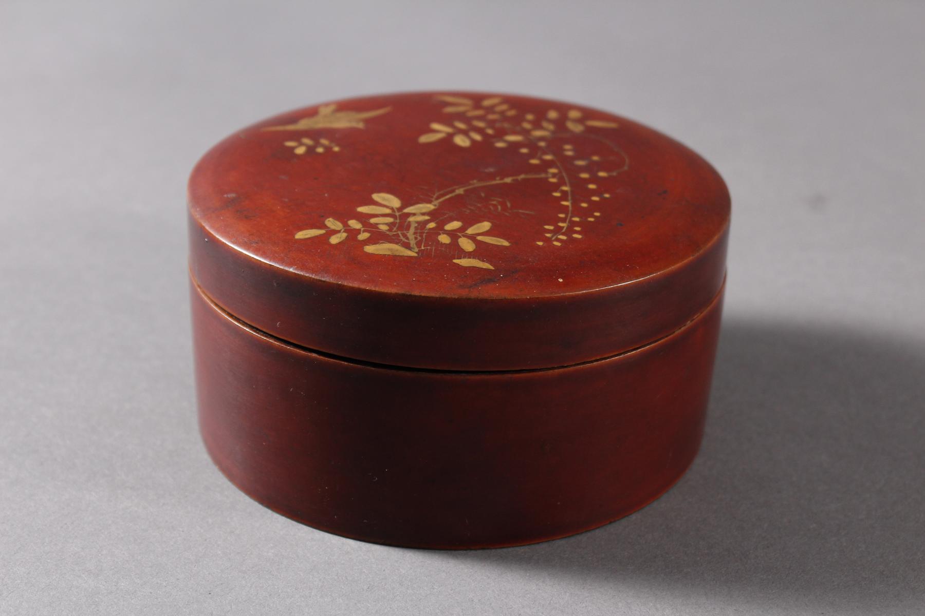 Lack Deckeldose mit 10 Tellereinsätzen, Japan, späte Meiji Periode-3
