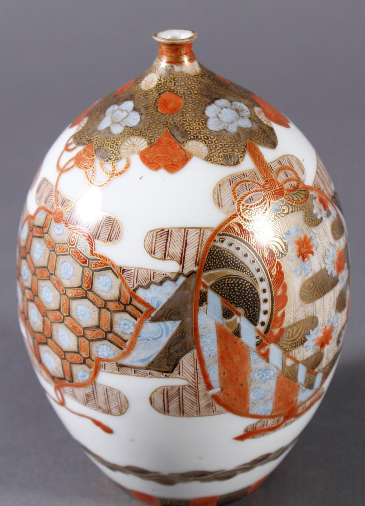 Porzellan Ziervase, Japan um 1900, Meiji Periode-3