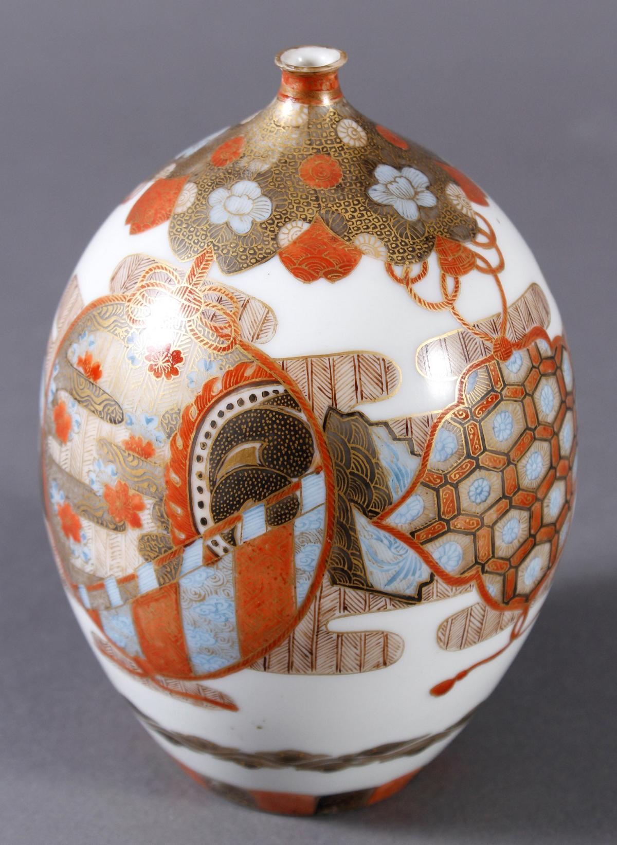 Porzellan Ziervase, Japan um 1900, Meiji Periode-4