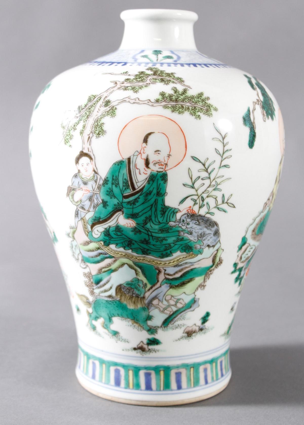 Meiping Porzellanvase, China, 19. Jahrhundert-2