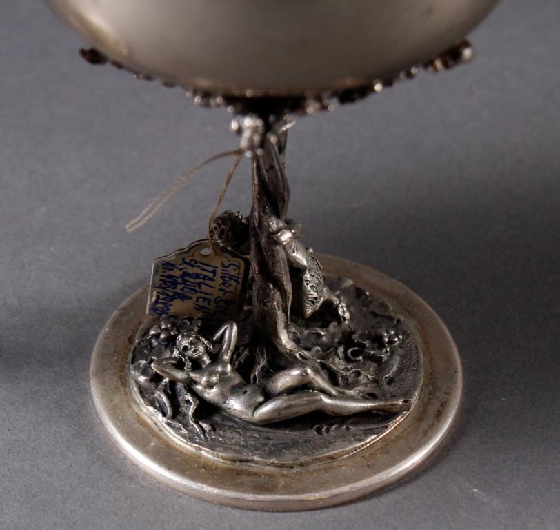 2 Erotika Silberpokale, Italien, Mitte 20. Jahrhundert-2