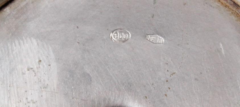 2 Erotika Silberpokale, Italien, Mitte 20. Jahrhundert-3