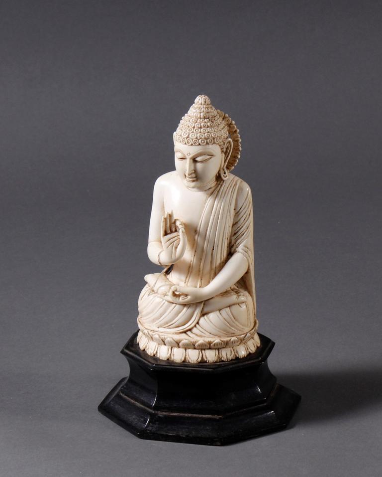 Elfenbein Buddha, Tibet 19. Jahrhundert