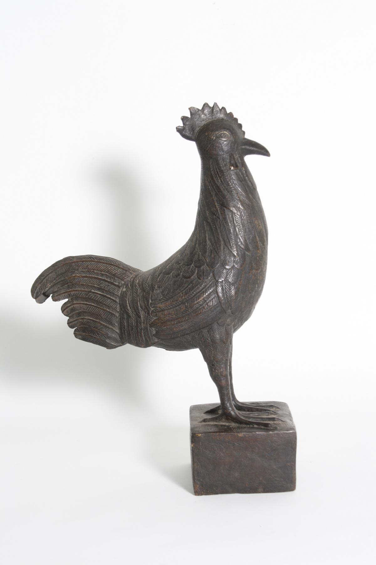 Bronze Hahn, Benin, Nigeria, 1. Hälfte 20. Jh.-4