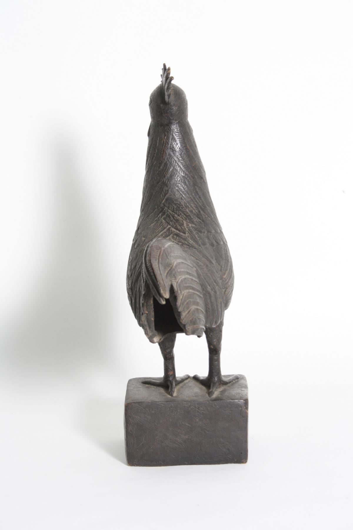 Bronze Hahn, Benin, Nigeria, 1. Hälfte 20. Jh.-5