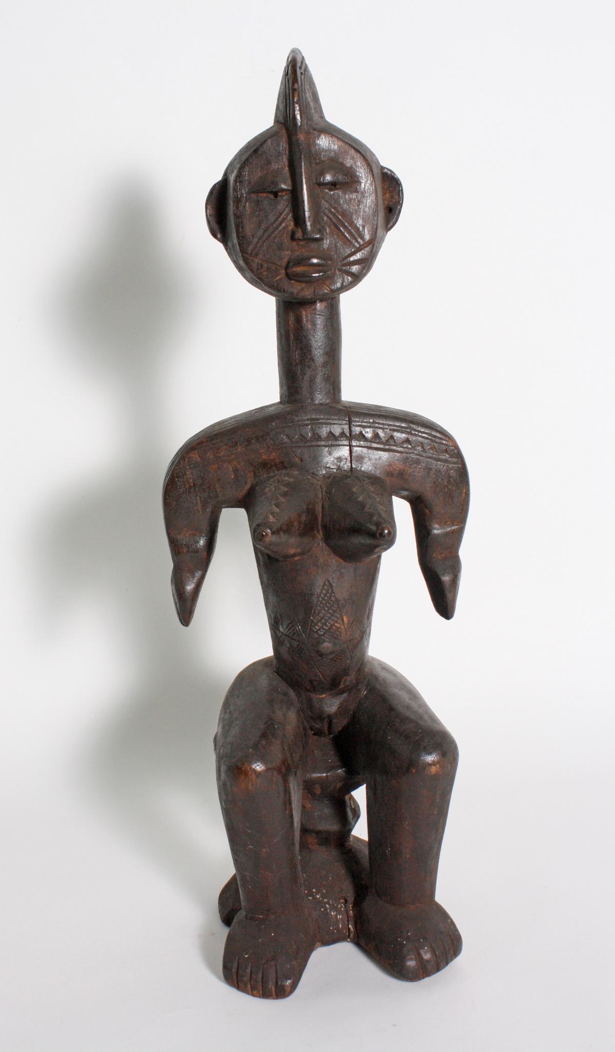 Sitzende weibliche Figur, Bambara, Mali, 1. Hälfte 20. Jh.