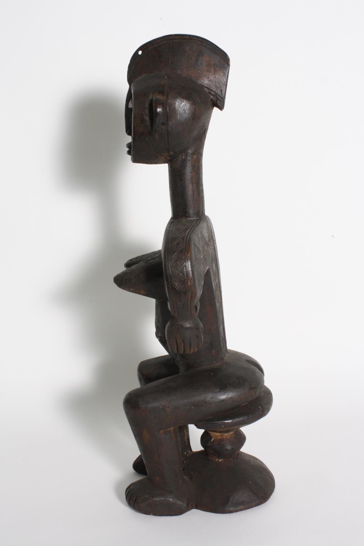 Sitzende weibliche Figur, Bambara, Mali, 1. Hälfte 20. Jh.-6