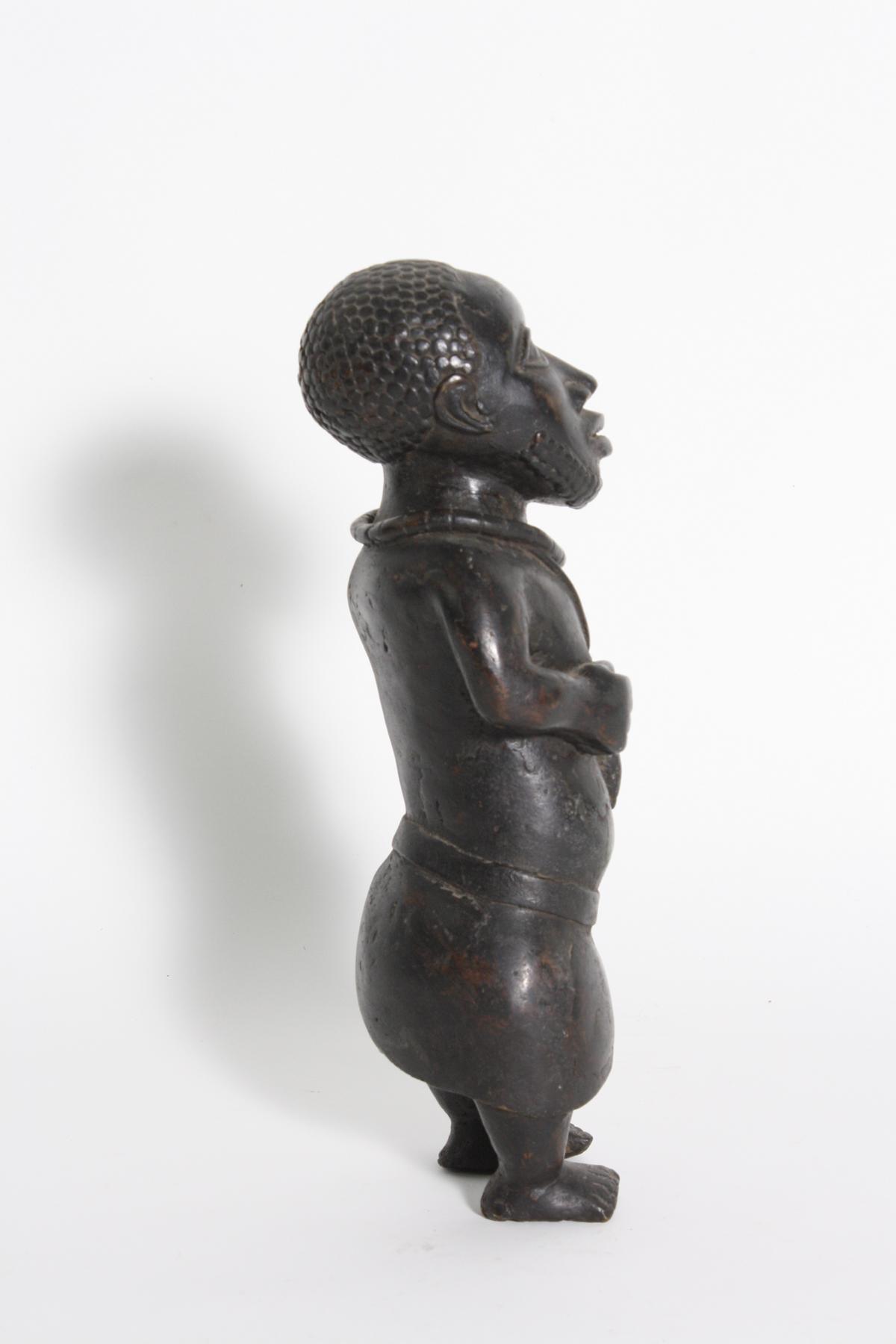 Bronze-Figur, Hofzwerg, Benin, Nigeria, 1. Hälfte 20. Jh.-2