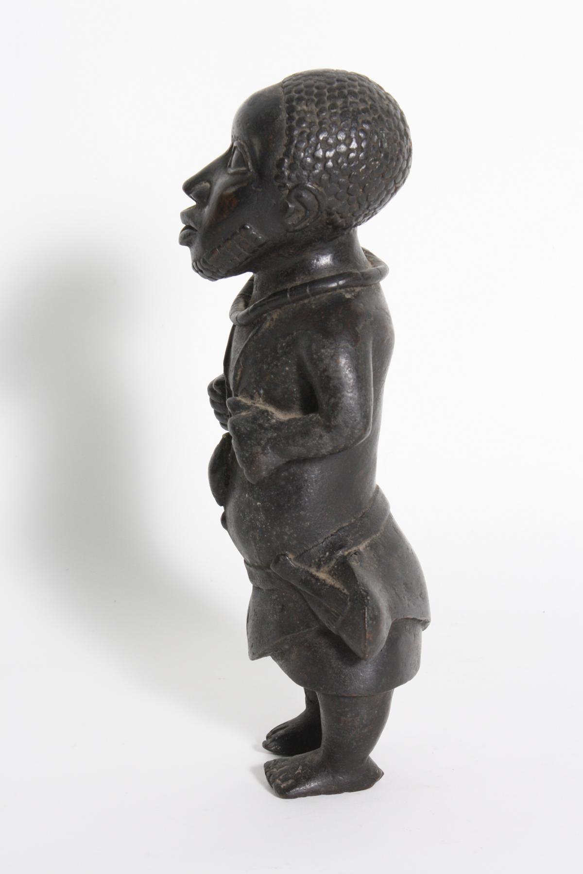 Bronze-Figur, Hofzwerg, Benin, Nigeria, 1. Hälfte 20. Jh.-4