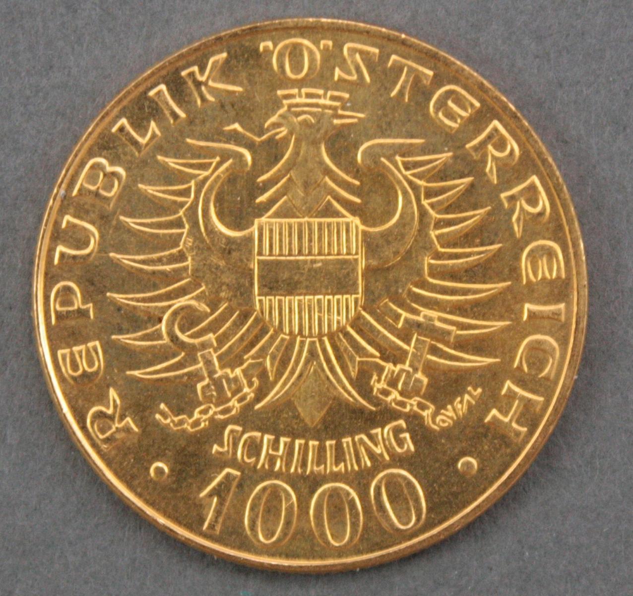 Österreich, 1000 Schilling, 12,5 g Feingold-2