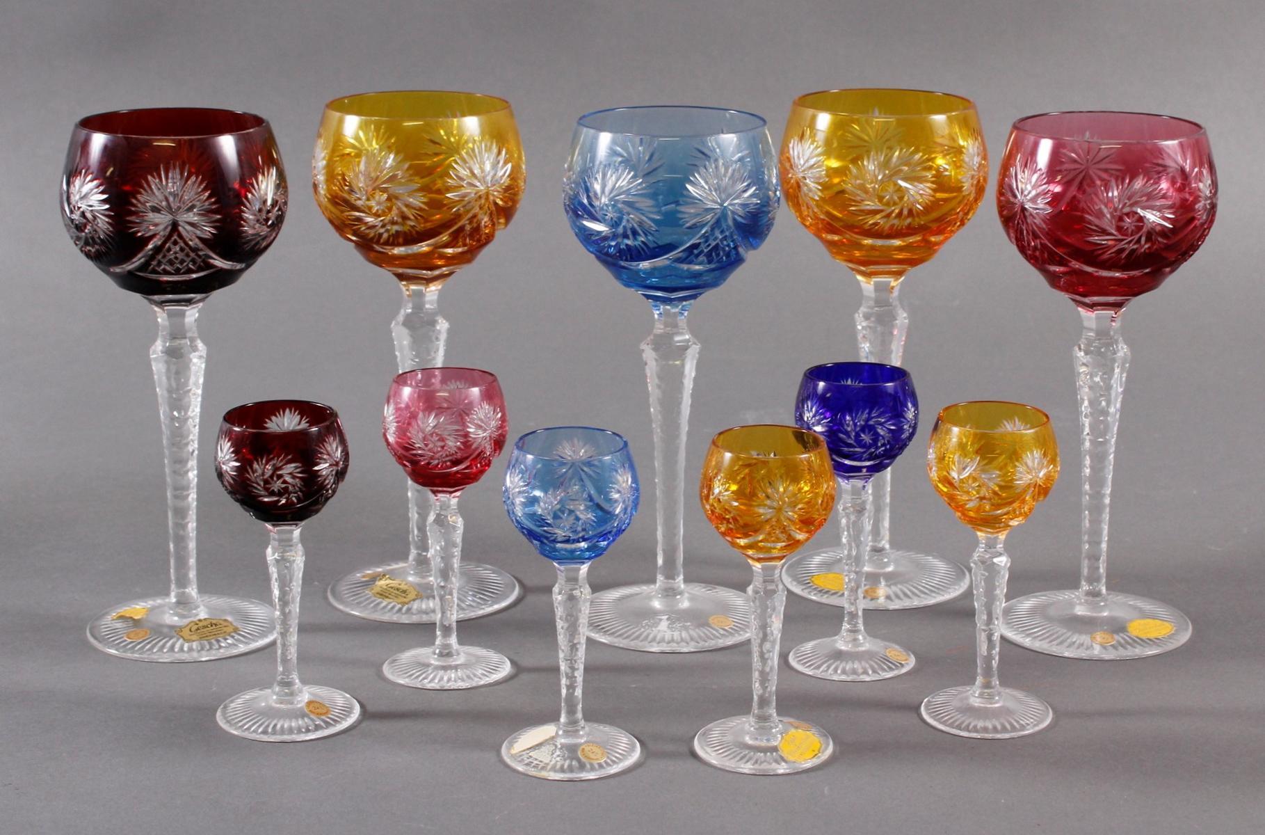 10 Kristallrömer  für Wein und Schnaps