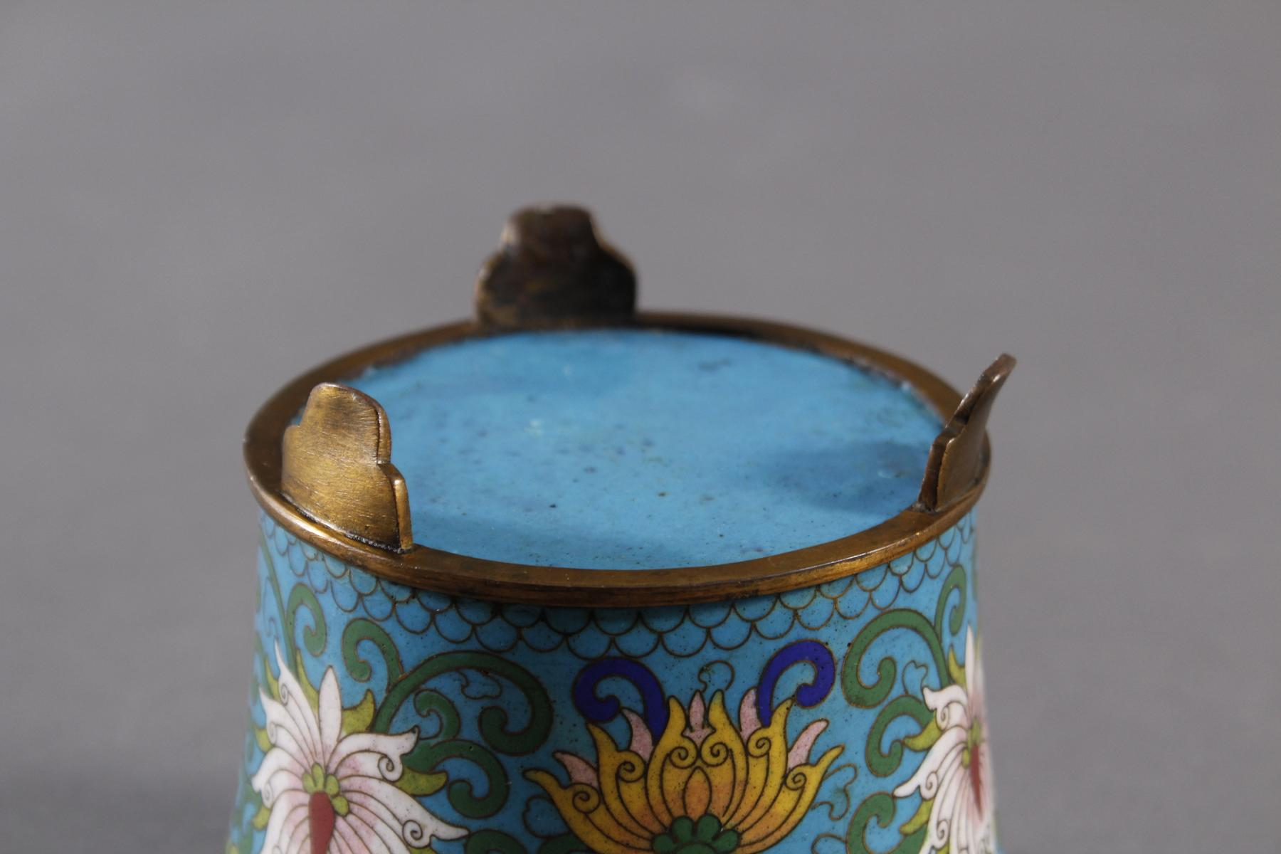 Cloisonne Cachepot, China um 1880-3