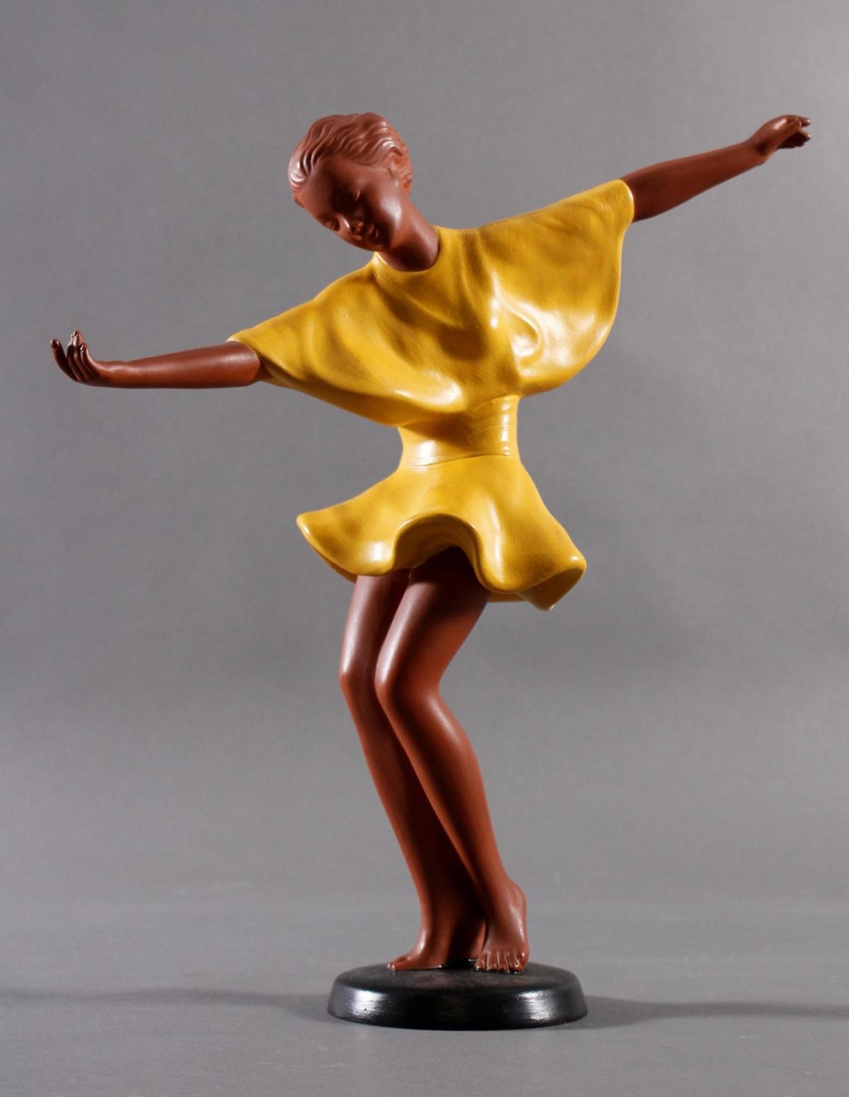 Goldscheider Keramikfigur 'Getanzte Harmonie' um 1941
