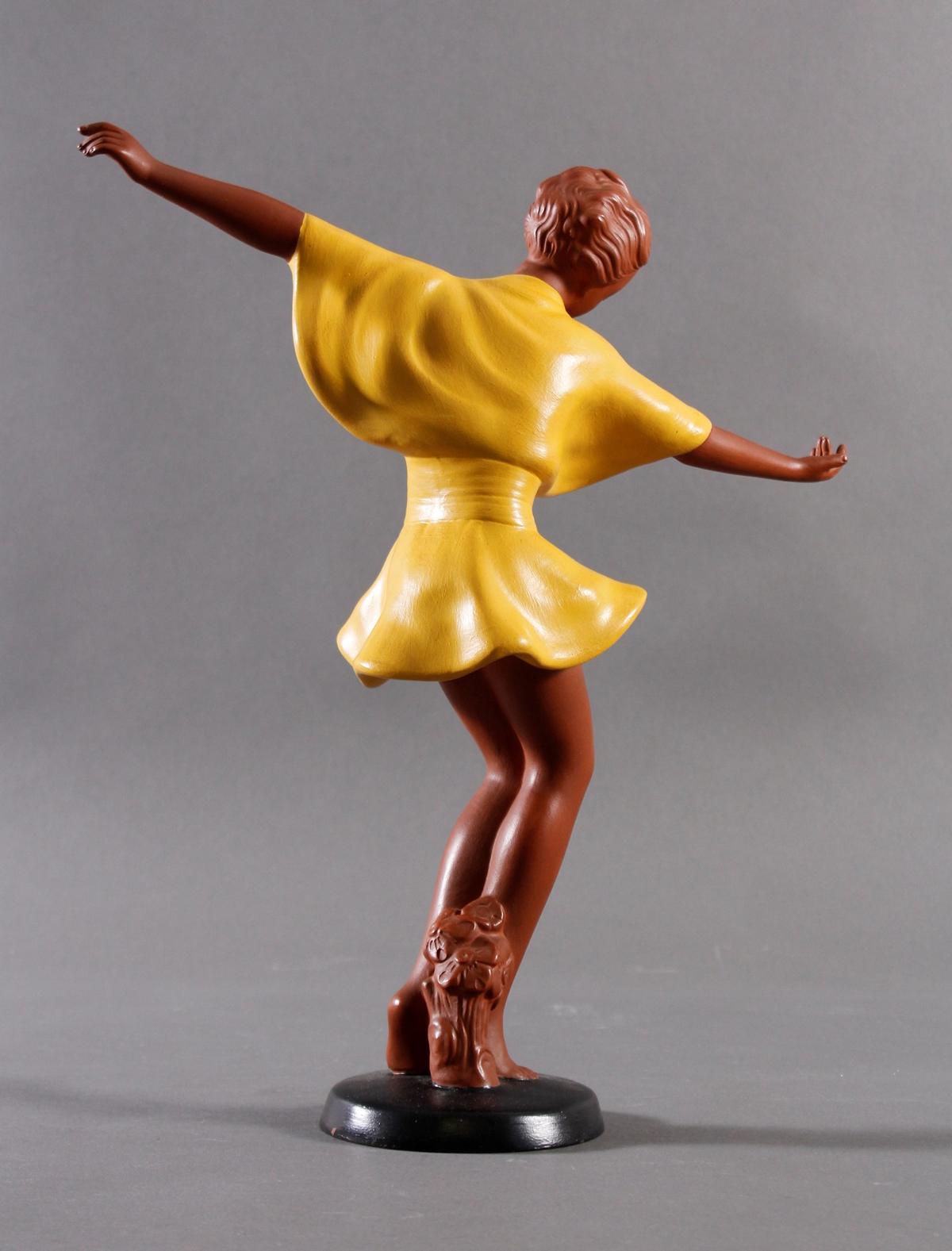 Goldscheider Keramikfigur 'Getanzte Harmonie' um 1941-6