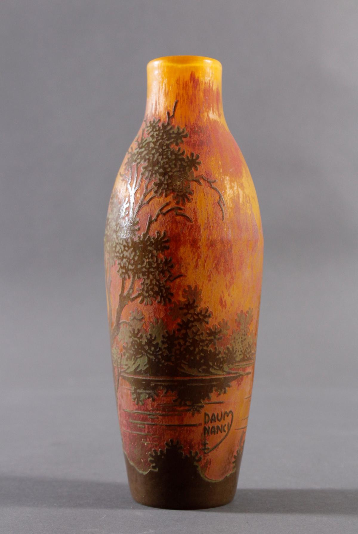 Jugendstil Glasvase, Daum Nancy um 1900