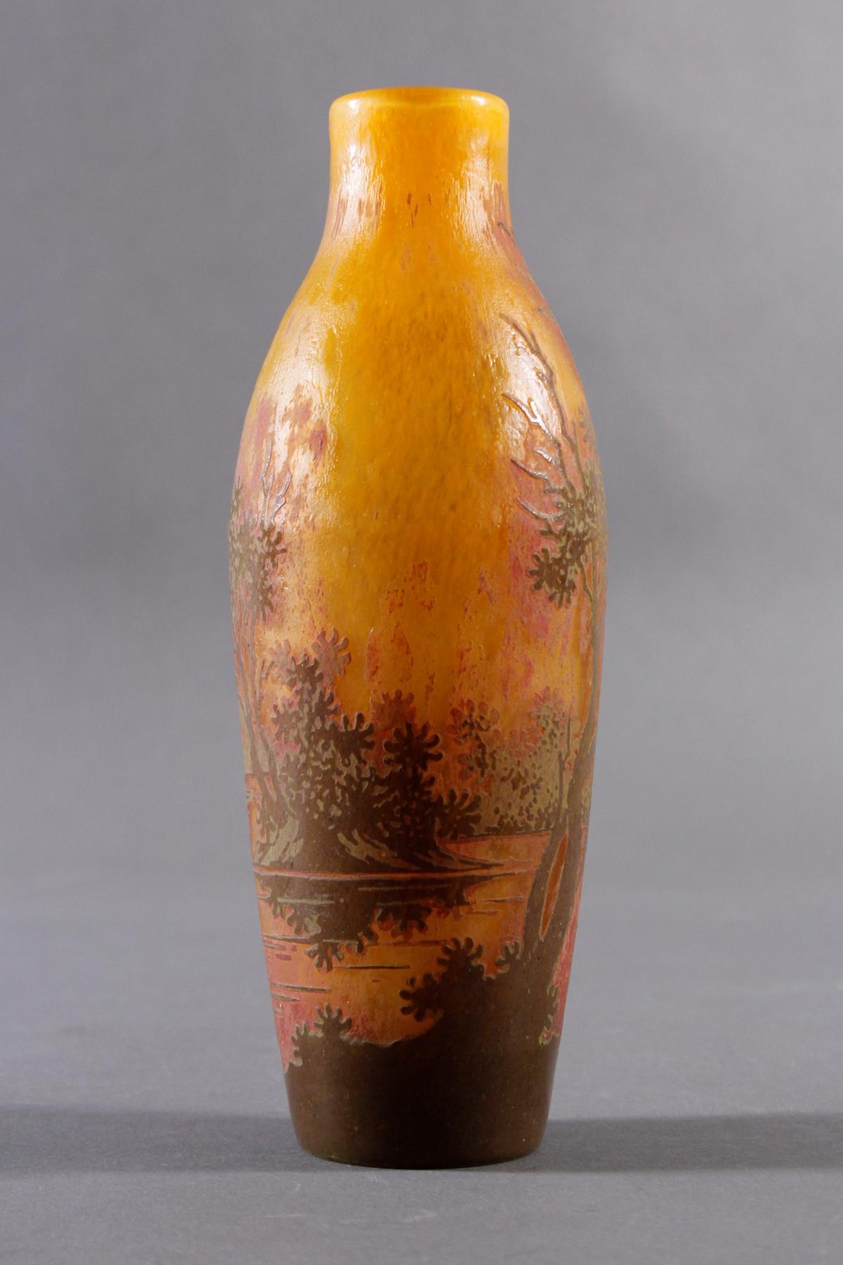 Jugendstil Glasvase, Daum Nancy um 1900-2