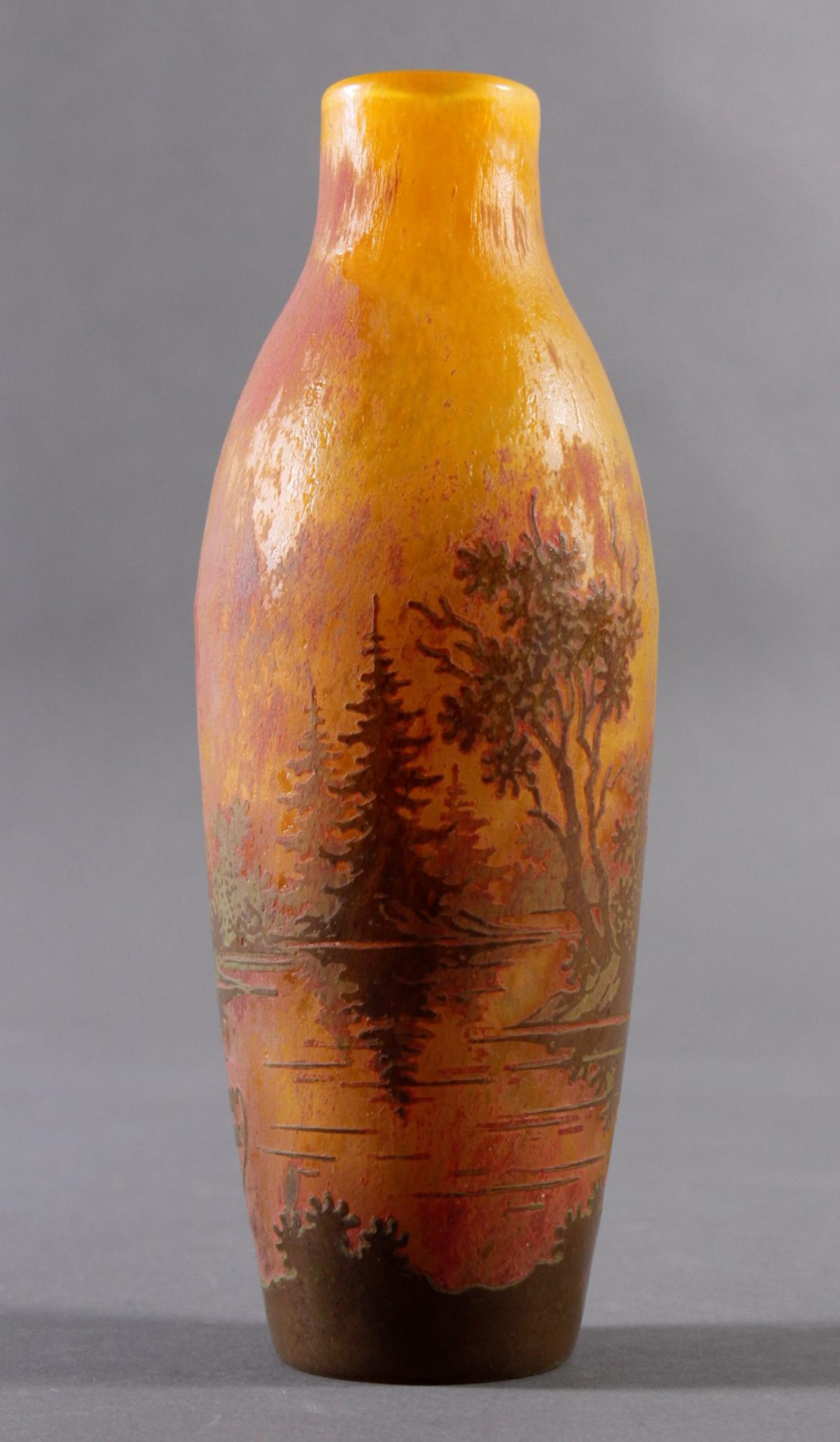 Jugendstil Glasvase, Daum Nancy um 1900-3