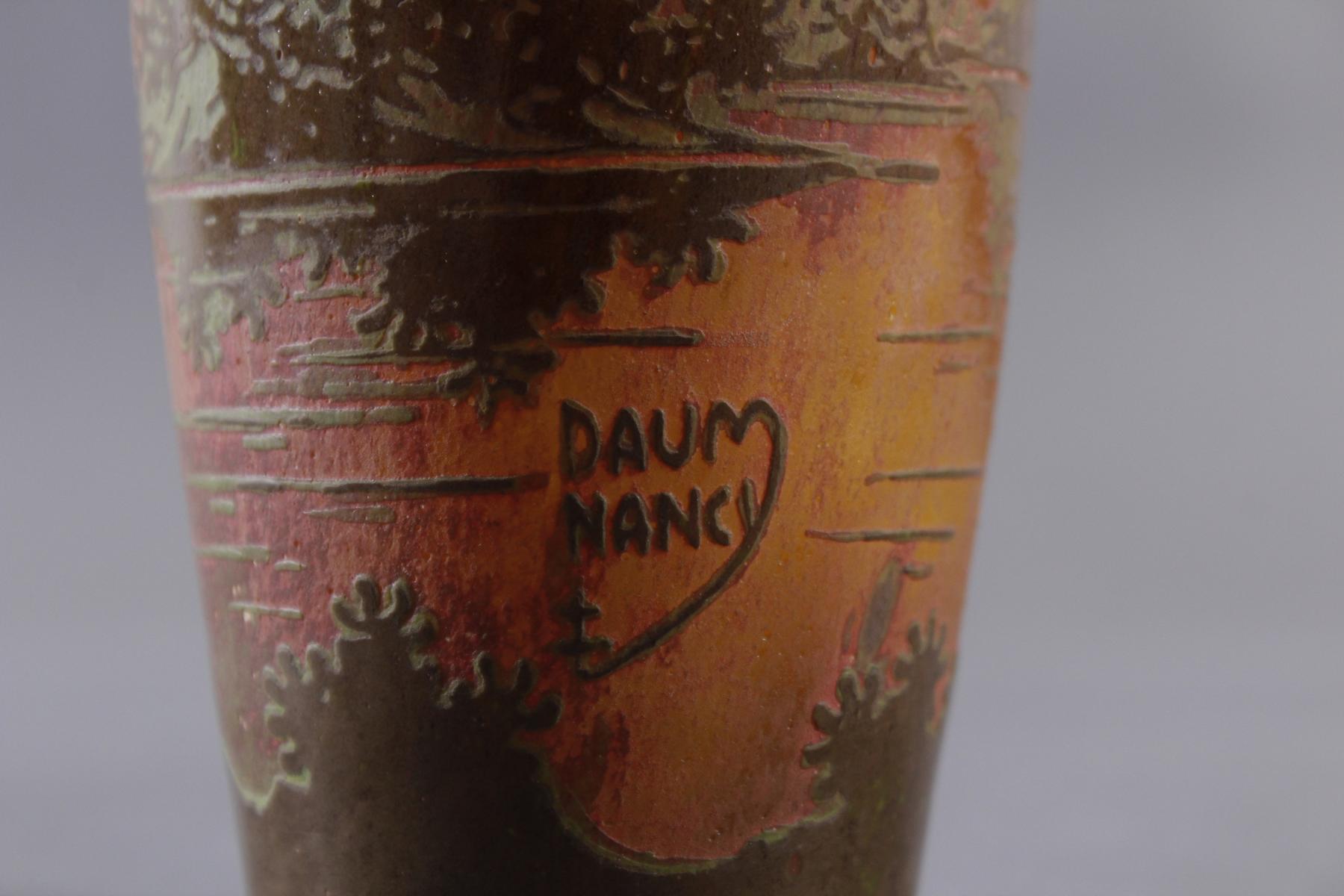 Jugendstil Glasvase, Daum Nancy um 1900-4