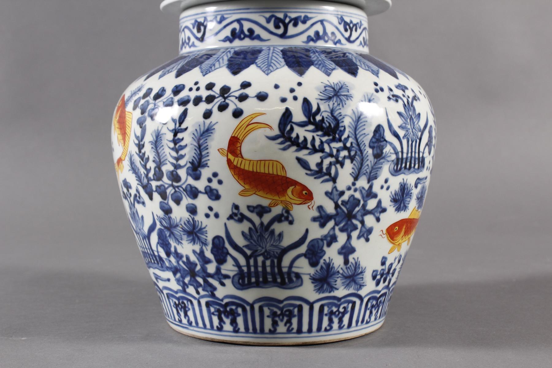 Porzellan Deckelvase, China-3