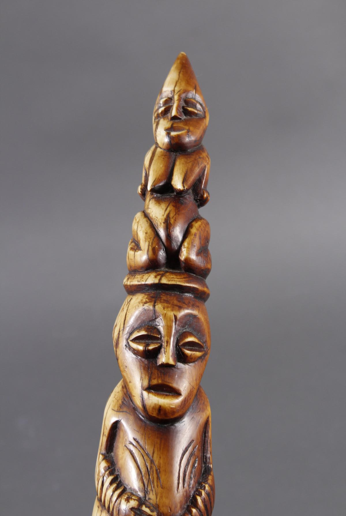 Elfenbein Stoßzahn, Lega / Kongo um 1920 / 1930-5